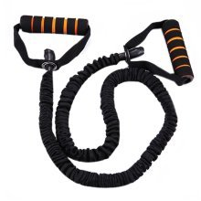 Latex Resistance Band Exercise Straps/Fitness Exercise Bands, Black(Size: 1.2M)