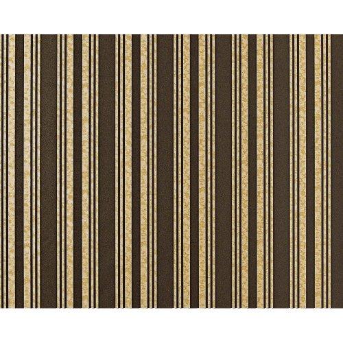EDEM 999-36 non-woven luxury striped wallpaper XXL brown cream beige 10.65 sqm
