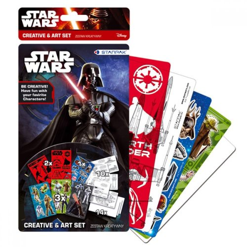 STAR WARS Creative & Art Set Hours of Colouring and Sticker Fun