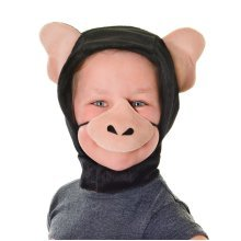 Childrens Chimpanzee Hood & Nose Disguise Set -  fancy dress chimpanzee set nose hood animal monkey disguise costume accessory