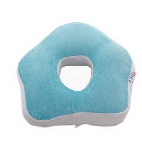 Slow Rebound Memory Space Office Car Pillows On The Waist Cushion(Blue)