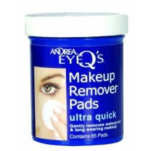 Andrea Eye Qs Ultra Quick Eye Makeup Remover Pads, 65-Count (Pack of 3)