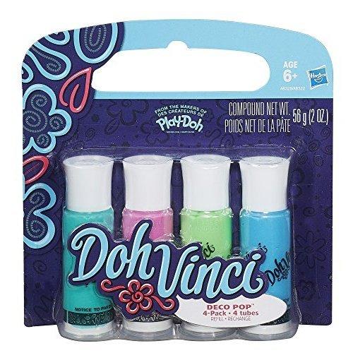 Play-Doh Dohvinci Deco Pop 4-pack, Cool Colors