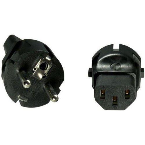 Microconnect PESC13AD Type F (Schuko) C13 Black power plug adapter