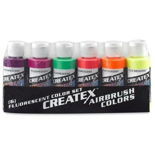 Alvin 5802-00 Createx Airbrush Fluorescent Set 2oz