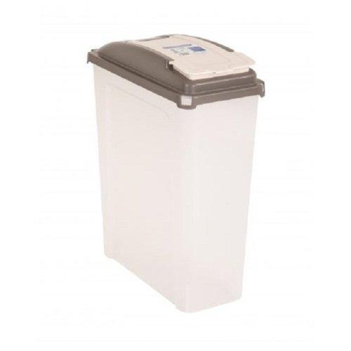25L Plastic Food Storage Container Box With Flip Lid Pet Food Storage Bin New