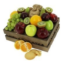Fruit Gift Tray with Biscuits