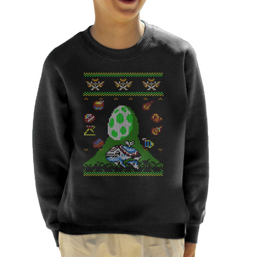 Koholint Christmas Zelda Knit Pattern Kid's Sweatshirt