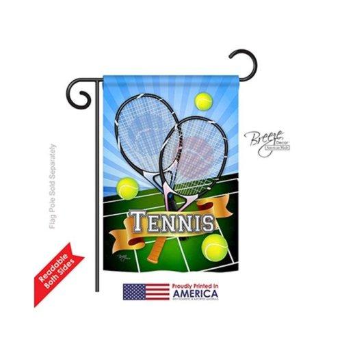 Breeze Decor 59002 Sports Tennis 2-Sided Impression Garden Flag - 13 x 18.5 in.