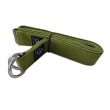 Yoga Stretch Strap 250 CM Long D-ring Yoga Strap (Green)
