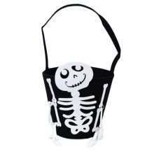 Trick Or Treat Skeleton Halloween Party Decor Children Prop Candy Storage-A9