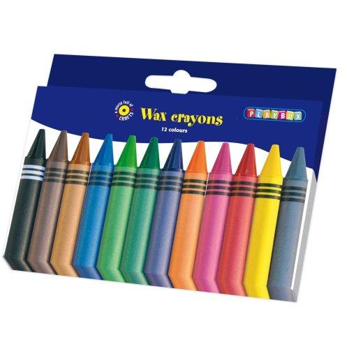 Pbx2470504 - Playbox - Wax Crayons - 100 Mm , Ï 11 Mm - 12 Pcs