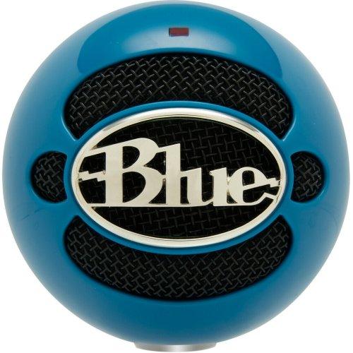Blue Microphones 3015 Snowball USB Microphone│Plug-Play Mic│Neon Blue