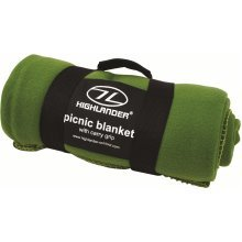Olive Lightweight Soft Fleece Blanket - Highlander Picnic Camping -  blanket fleece highlander olive picnic camping