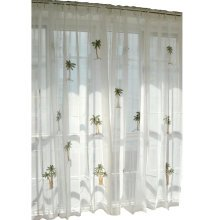 A Pcs of Sweet Embroidered Curtain Kitchen Curtain Coffee Screen