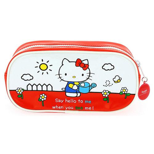 Sanrio Hello Kitty Vintage Retro Red & White School Pencil Case Original Design New