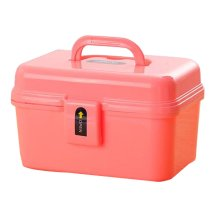 Portable Handheld Family Medicine Cabinet First Aid Kit Storage Box Pink