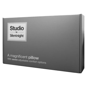 Silentnight Luxury Studio Front Back Side Sleeper Pillow - Soft Medium or Firm