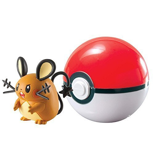 Pokemon XY Clip N Carry Dedenne and Poke Ball Action Figure