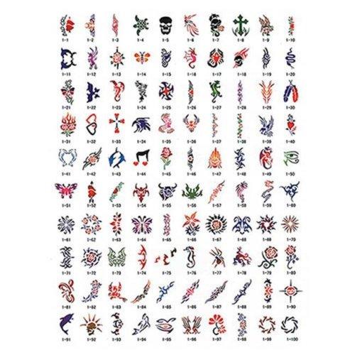 Paasche SB-1 100 Designs Tattoo Stencil Book