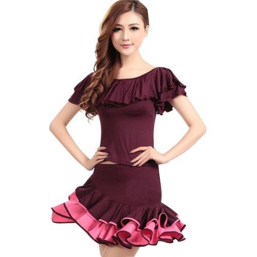 Fashion Dance Dresses For Girls Latin Dance Dress Purple XL