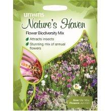 Unwins Pictorial Packet - Natures Heaven Flower Biodiversity Mix - 1g Seeds