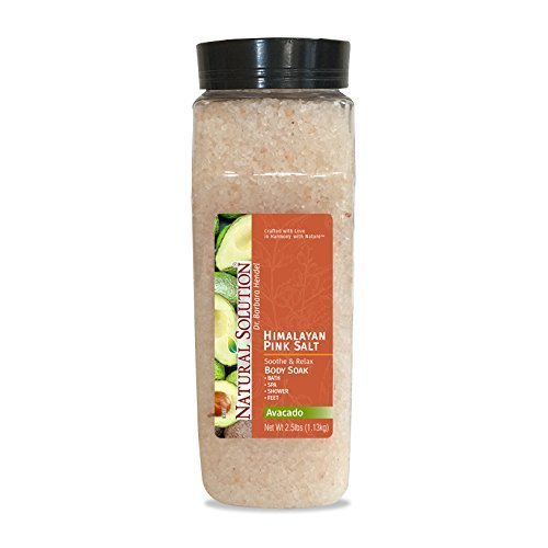 Ultra Moisturizing Mineral body Soak Super Moisturizer with Avocado Oil, 25 Pound Jar by Natural Solution  Pink Salt Company
