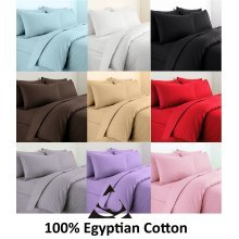 200 Thread Count Duvet Cover Egyptian Cotton Bedding Set