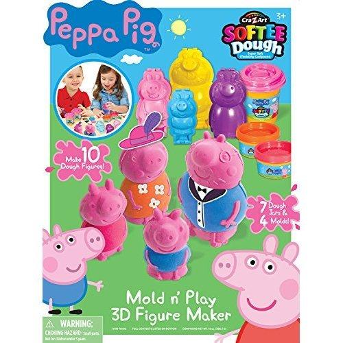 Cra Z Art Peppa Pig Softee Dough Figure Maker Large Action Figure