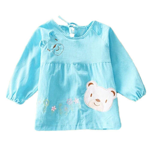 6b32d1b4790b8 Lovely Girl Smocks Baby Feeding Clothes Baby Bibs Cute Bear ,Blue on OnBuy