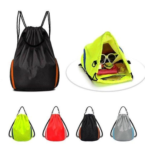 Outdoor Cycling Camping Hiking Backpack Leisure Travel Basketball Bag Drawstring Rucksack