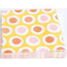 Yellow 20pk Party Napkins - Amscan International Curls Luncheon Pack 20 -  amscan international curls luncheon napkins pack 20 yellow