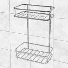 2 Tier Chrome Shower Caddy