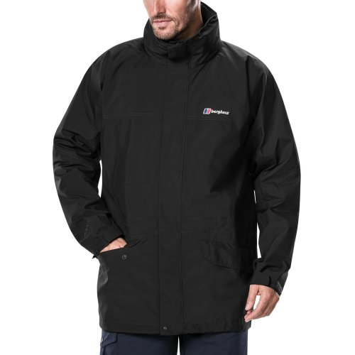 Berghaus Men's Iii Gore Tex Walking Shell Cornice Jacket, Black/Black, XXX-Large