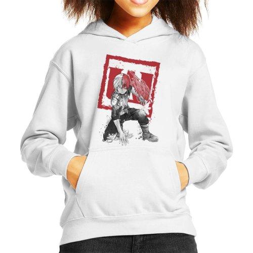 Shoto Todoroki Sumi E My Hero Academia Kid's Hooded Sweatshirt