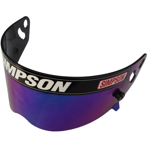 Simpson Helmet Blue Iridium Visor For Sa2010 Diamondback Speedway Rx