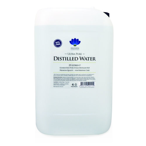 Distilled Water - Pure Steam Distilled H2O - 25 litres - BPA Free Container with 61mm Jerry Can Tap