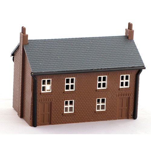 Brown brick house - Kestrel Design GMKD01 - N building plastic kit - free post