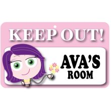 Keep Out Door Sign - Ava's Room