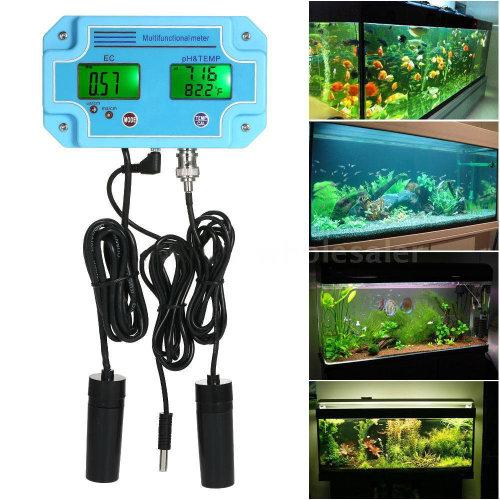 pH EC Temperature Meter Water Detector Water Quality Monitor Tester
