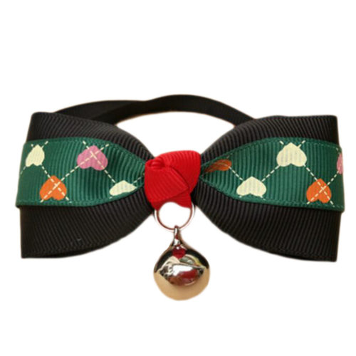England Style Pet Collar Tie Adjustable Bowknot Cat Dog Collars with Bell-A17
