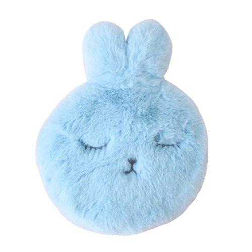 [Blue] Small Plush Hot Water Bottle Cute Rabbit Hot Water Bag