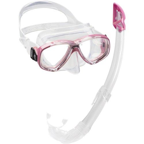 Cressi Women's Perla Mare Combo Snorkelling Set - Pink