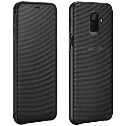Official Samsung Flip Wallet Cover  EF-WA605 for Samsung Galaxy J6 - Black