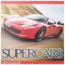 2018 Super Cars Square Wall Calendar 16 Months Sports Performance Ultimate Racing Christmas Birthday Gift Home Office