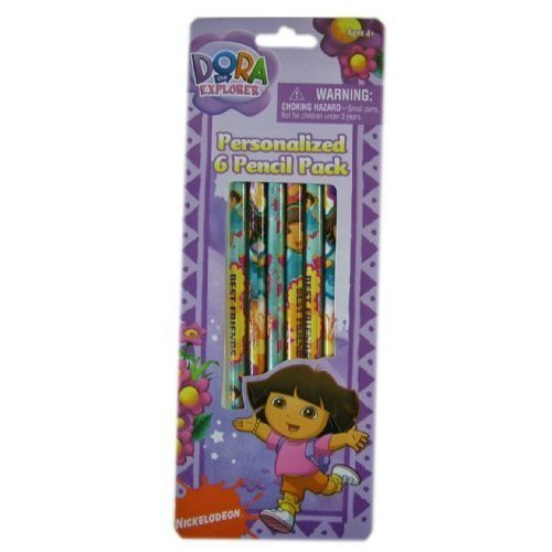 Dora the Explorer Personalized 6 Pencil Pack (One Pack)