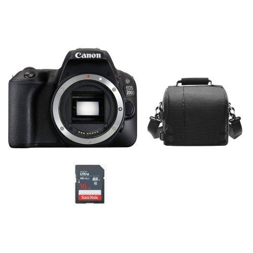CANON EOS 200D Body Black+ Bag + SanDisk 16GB SD card
