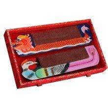 Dragon And Phoenix Wooden Comb Hair Comb Phoebe Comb