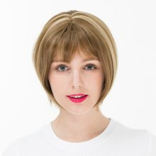 Mixed Color Short Bobo Straight Synthetic Wig