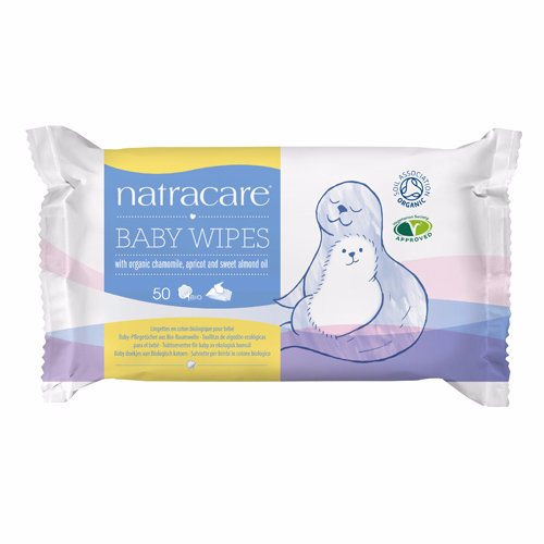 Natracare  Cotton Baby Wipes - Organic 50s